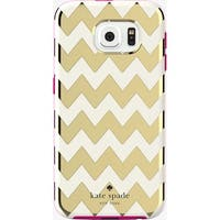 Kate Spade New York Flexible Hardshell Case for Samsung Galaxy S6 - Chevron Gold
