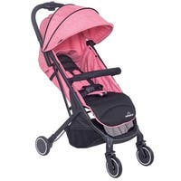 Lightweight Foldable Baby Kids Travel Stroller Pushchair Buggy Newborn Infant - Pink
