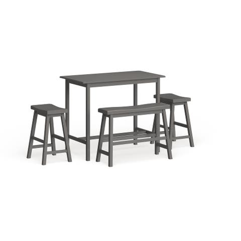 """SAFAVIEH Ronin 4-Piece Counter-Height Bench and Stool Pub Set - 24"""" x 44"""" x 36"""""""