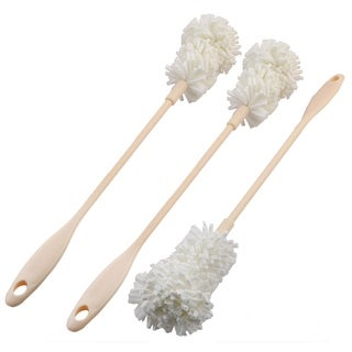 Long Handle Detachable Milk Bottle Tea Cup Glass Cleaning Brush Cleaner 3 PCS