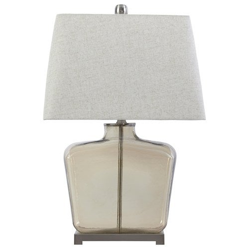 Janae Champagne Glass Table Lamp L430434 Janae Champagne Glass Table Lamp