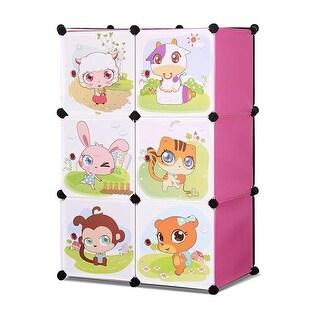 Whimsical Childrens 3 Level 6 Cube Interlocking Multipurpose Anima