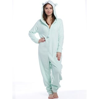 PJ Couture Women's All In One Plush Fun Owl Hooded One-Piece