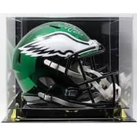 Brian Dawkins Signed Eagles FS Riddell Chrome Replica Helmet JSA w/ Display Case