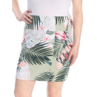 Link to GUESS Womens Green Printed Above The Knee Skirt  Size XL Similar Items in Skirts
