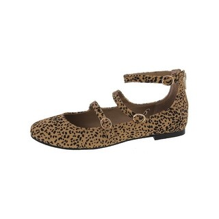 Steve Madden Womens Norrra-l Flats Cow Hair Animal Print
