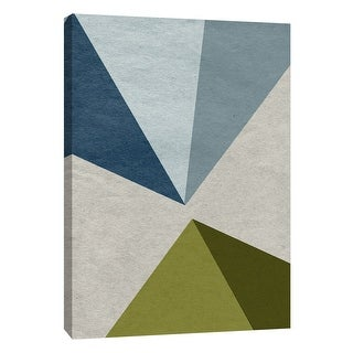 """PTM Images 9-108444  PTM Canvas Collection 10"""" x 8"""" - """"New Linen Geometrics E"""" Giclee Abstract Art Print on Canvas"""