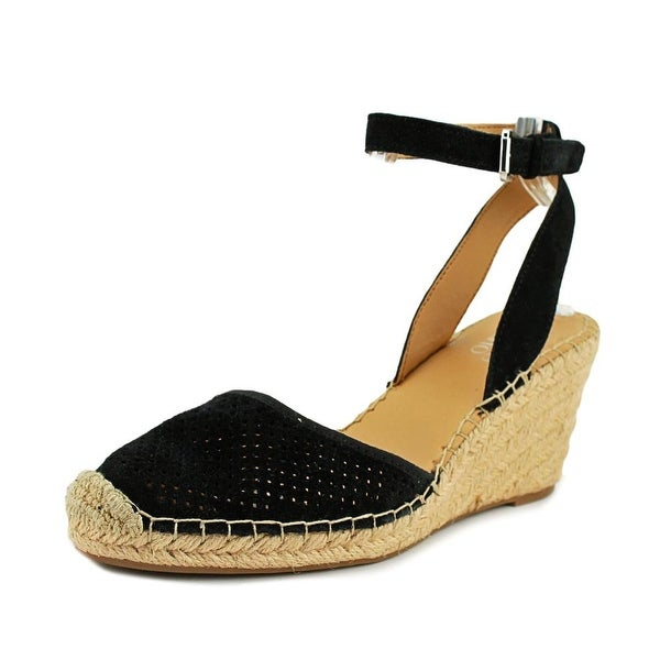 e079754690 Shop Franco Sarto Mirage2 Women Open Toe Synthetic Black Wedge Heel ...
