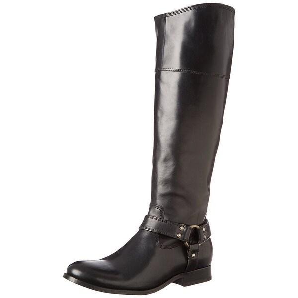 Frye NEW Black Women Shoe Size 6M Melissa Harness Inside Zip Boot