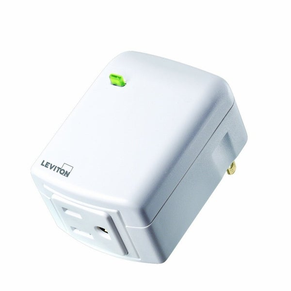 Leviton DW15A-1BW Decora Smart Wi-Fi Plug-in Outlet, No Hub Required - WHITE