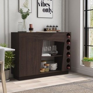 Link to Furniture of America Cove Modern Wenge 47-inch Wine Rack Buffet Similar Items in Dining Room & Bar Furniture