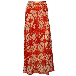 INC International Concepts Women's Tiedye Print Polyester Skirt - Red