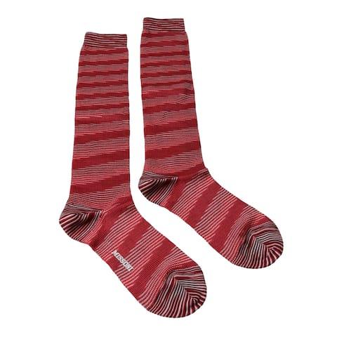 Missoni GM00CMD5457 0001 Red/White Knee Length Socks