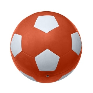 School Smart No 5 Soccer Ball, Orange
