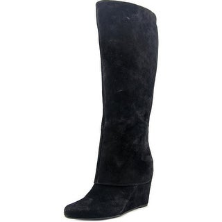 Jessica Simpson Rallie Women Round Toe Suede Black Knee High Boot