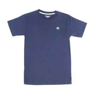 Champion NEW Navy Blue Mens Size Small S Embroidered Logo Tee T-Shirt
