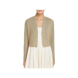 Calvin Klein Womens Shrug Sweater Metallic Open Front