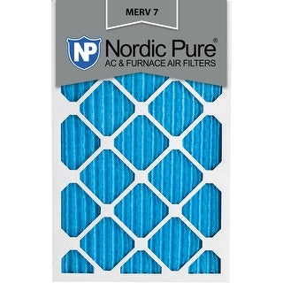 Nordic Pure 12x20x1 Pleated MERV 7 AC Furnace Air Filters Qty 3