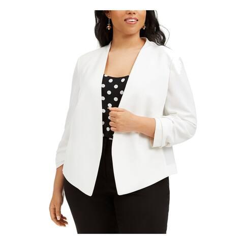 BAR III Womens White Cardigan Sweater Size 3X