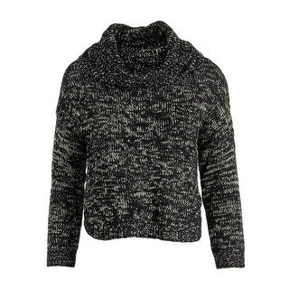 Confess Womens Juniors At Last Crop Sweater Metallic Crochet