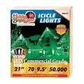 Holiday Bright Lights LEDBX-M8IC70-MU Christmas Commercial M8 LED Icicle Light, Multicolored - Thumbnail 0