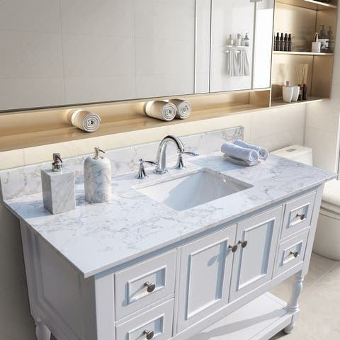 TiramisuBest 43''x22''bathroom vanity tops with sink and back splash