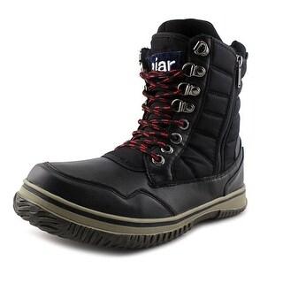 Pajar TAL Men Round Toe Leather Black Snow Boot