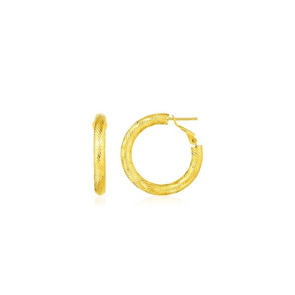 Details about  /14k 14kt Yellow Gold Polished /& Textured Small 3 Hoop Earrings 21.34 mm