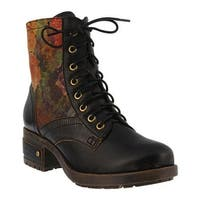 L'Artiste by Spring Step Women's Marty Lace Up Boot Black Leather