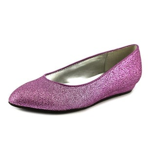 Nina Jive Youth Round Toe Synthetic Purple Flats