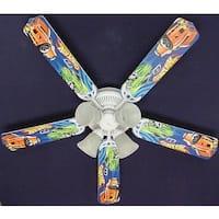 Mattel Hot Wheels Print Blades 52in Ceiling Fan Light Kit - Multi