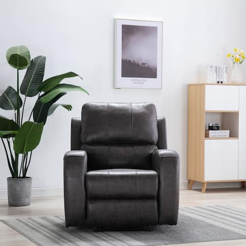 Comfortable Suede Leather Recliner