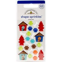 Doodlebug Sprinkles Adhesive Glossy Enamel Shapes 25/Pkg-Puppy Play