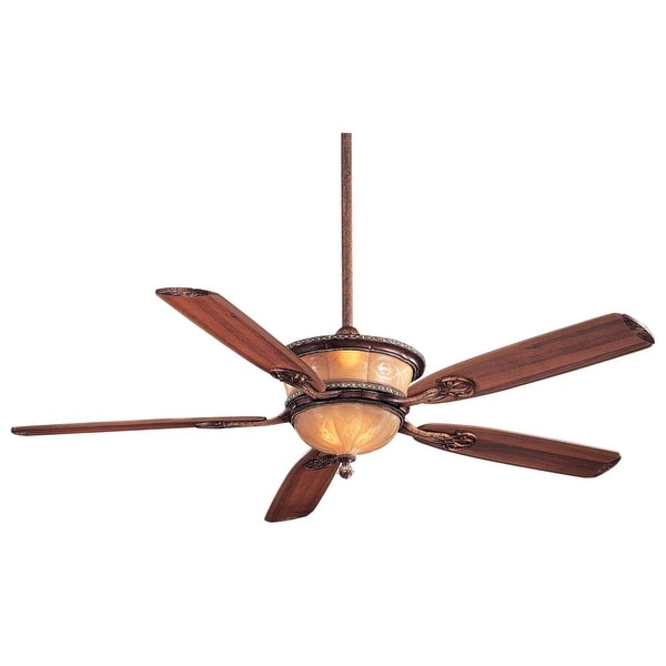 """MinkaAire Santa Lucia 5 Blade 60"""" Ceiling Fan - Light, Wall Control and Blades Included"""