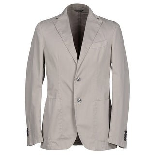 Canali Cotton and Linen Taupe Solid 2-Button Sportcoat 44 Regular 44R Blazer