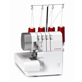 Singer 14Cg754 Profinish Serger Electric Sewing Machine With Built-In Hems White