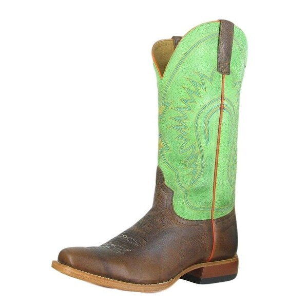 Horse Power Western Boots Mens Leather Cowboy Snip Moka