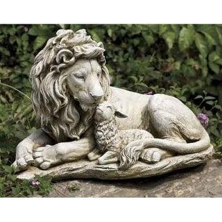 "20"" Joseph's Studio Lion and Lamb Outdoor Garden Statue"