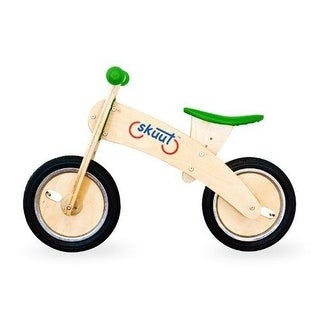 Diggin Active Skuut Wooden BALANCE BIKE, 33 Inch Kids Ballance Skuut BIKE, Green