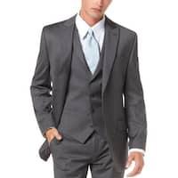 Alfani Mens Slim Fit Sportcoat 44 Regular 44R Grey Wool Suit-Separates