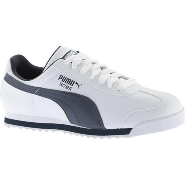 Puma Roma Shoes (WhiteNew NavyRed) Men's Shoes