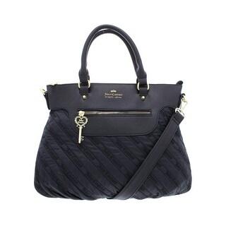 Juicy Couture Womens Cloud Nine Satchel Handbag Faux Leather Trim Convertible - MEDIUM