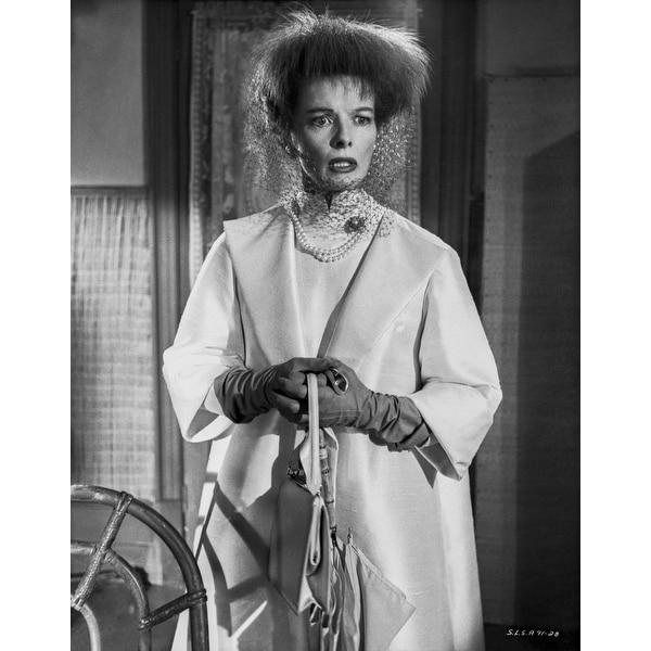 Shop Katharine Hepburn In White Dress With Gloves In Portrait Photo