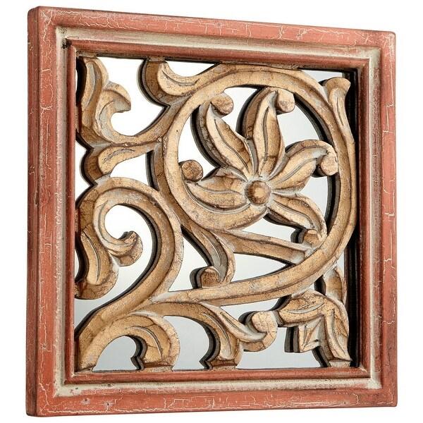 Shop Cyan Design Vinum Mirror 10 X 10 Vinum Square Wood Frame Mirror