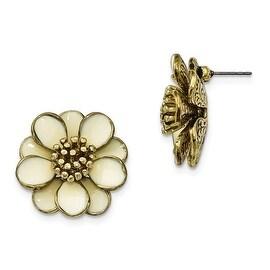 Goldtone Crystal Shepherds Hook Earrings