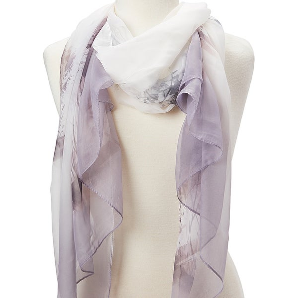 Oussum Women Abstract Scarf Neck Wrap Sheer Scarf Stole Lightweight Summer Soft Scarves & Wraps. Opens flyout.