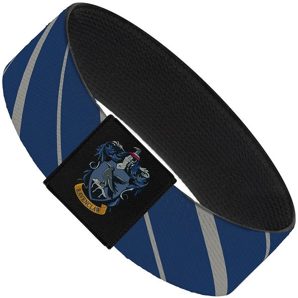"Ravenclaw Stripe4 Blue Gray Elastic Bracelet 1.0"" Wide"