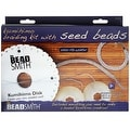 BeadSmith Kumihimo Starter Kit, with Round Disk S-Lon Cord and Beads, - Thumbnail 0