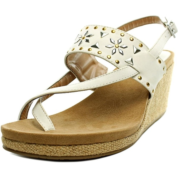 Style & Co Jazzmin   Open Toe Canvas  Wedge Sandal