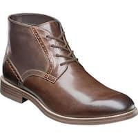 Nunn Bush Men's Middleton Plain Toe Chukka Boot Brown Leather